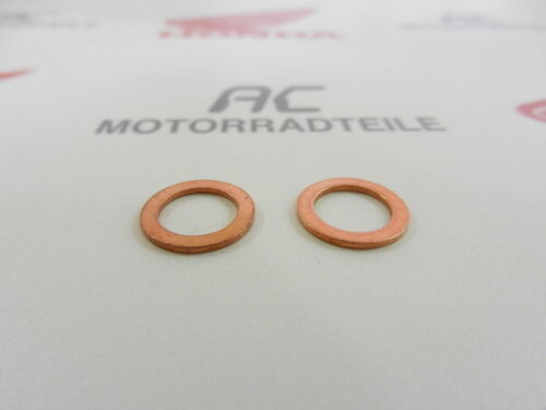 Honda CB 250 350 360 400 2x Kupferscheibe 8mm Dichtung Gabel Schraube neu washer