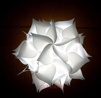 Lotus IQ Light Ceiling Pendant Contemporary Modern Jigsaw Lamp Shades White