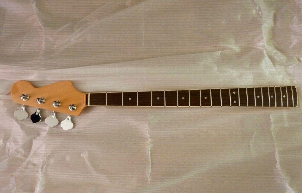 New 60's style JB bass maple guitar neck BOUND RW slab fingerboard Kluson heads