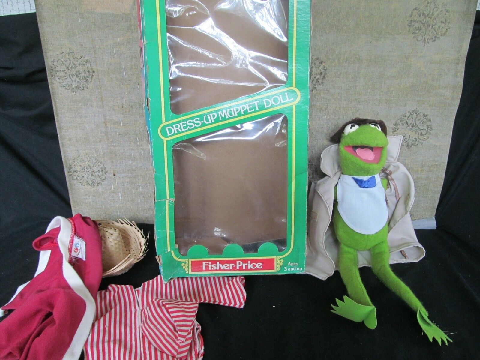 Vintage Fisher-price Kermit the Frog vestir Muppet Muñeca  857 CA 1981