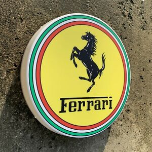 Ferrari Led Wall Light Sign Logo Garage Automobilia Car Auto Dino Daytona Spider Ebay