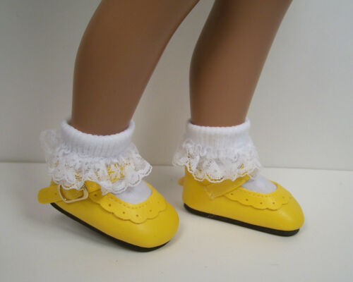 """DK YELLOW Classic Doll Shoes For 16/""""- 17/"""" Sasha Dark Debs"""