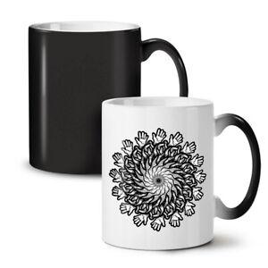 Mandala Flowers NEW Colour Changing Tea Coffee Mug 11 oz | Wellcoda