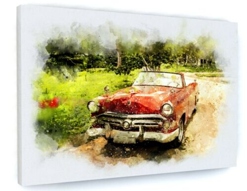CLASSIC CAR CANVAS PICTURE PRINT WALL ART 6797