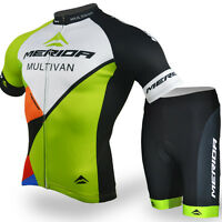Merida Men Cycling Jersey Wear Bicycle Shirts & Bike Padded Shorts Reflective