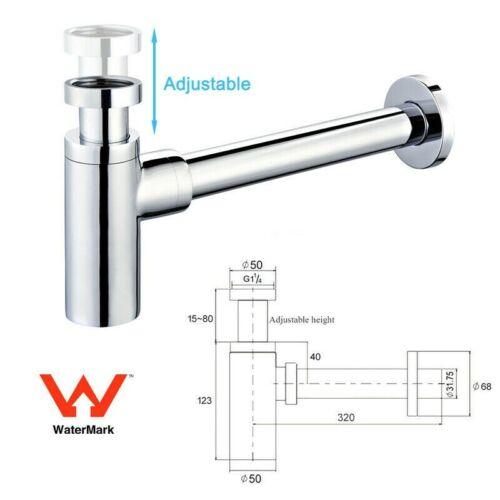 Matte Black ROUND BOTTLE TRAP 32//40 mm WASTE for wall hung basin vanity