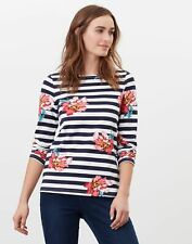 Joules Womens Harbour Print Long Sleeve Jersey Top - Cream Floral