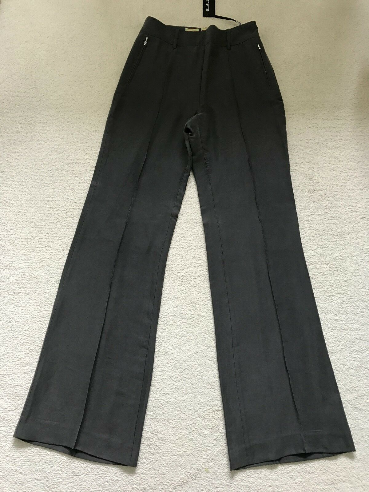 Paul Smith Ladies Dark Grey Woven Trousers - Size 42 - Made in