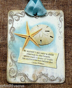 Hang Tags  STAR FISH SAND DOLLAR  BEACH QUOTE TAGS or MAGNET #564  Gift Tags