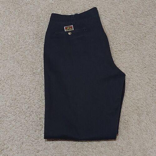VTG Ben Davis Black Chino Pants 38x28 Standard Reg