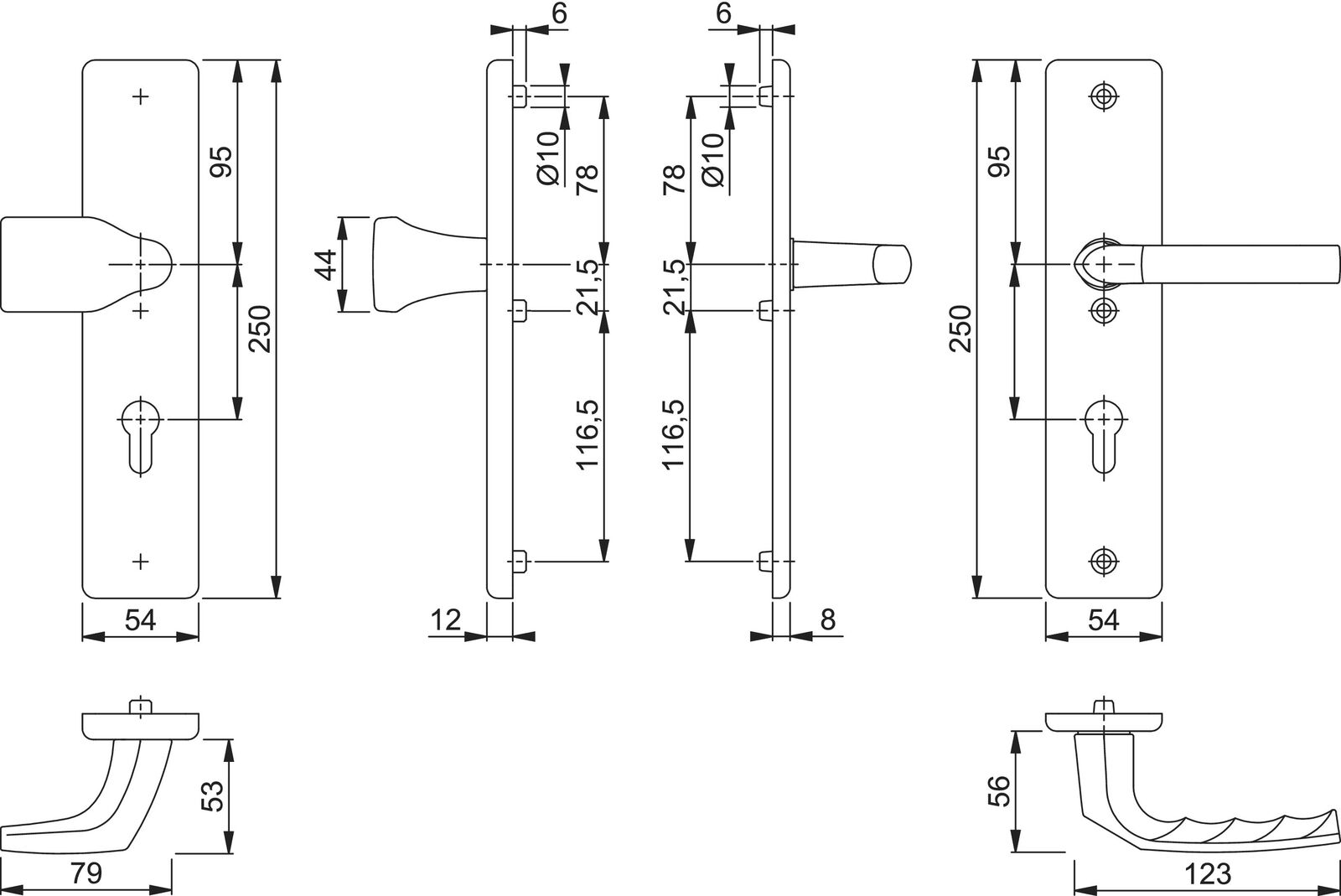 2440 Hoppe Sicherheits-Wechsel-Garnitur 78G 2221A 3841139 1117 F4 PZ..