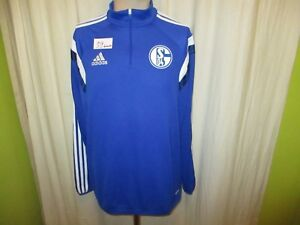 FC-Schalke-04-Adidas-Spieler-Freizeit-Training-Zipper-Jacke-2014-15-Gr-L-TOP
