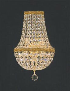 Swarovski crystal trimmed empire crystal wall sconce lighting w 95 image is loading swarovski crystal trimmed empire crystal wall sconce lighting aloadofball Image collections