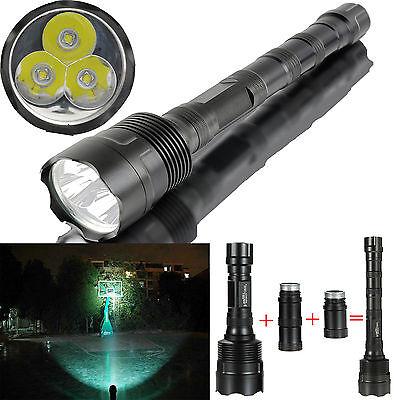 UltraFire 6000Lumen Cree XM-L 3x T6 LED Taschenlampe Torch Lamp Aluminum Alloy