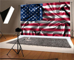 Details about Crumpled Silk US Flag Photography Backdrops 9x6ft  Independence Day Background