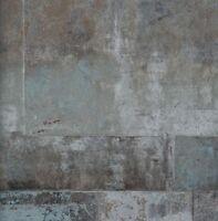 Neu! Vlies Tapete 47210 Stein Muster Bruchstein anthrazit grau braun metallic BN