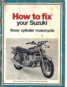 Details about SUZUKI 3 Cylinder Motorcycle Repair Manual