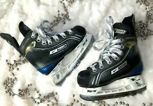 Boys Bauer Supreme One35 Ice Hockey Skates Sz Y8 Youth  | EBay