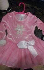 BONNIE JEAN Pink Sparkle 2t Snowflake Appliqué Tulle Holiday Dress