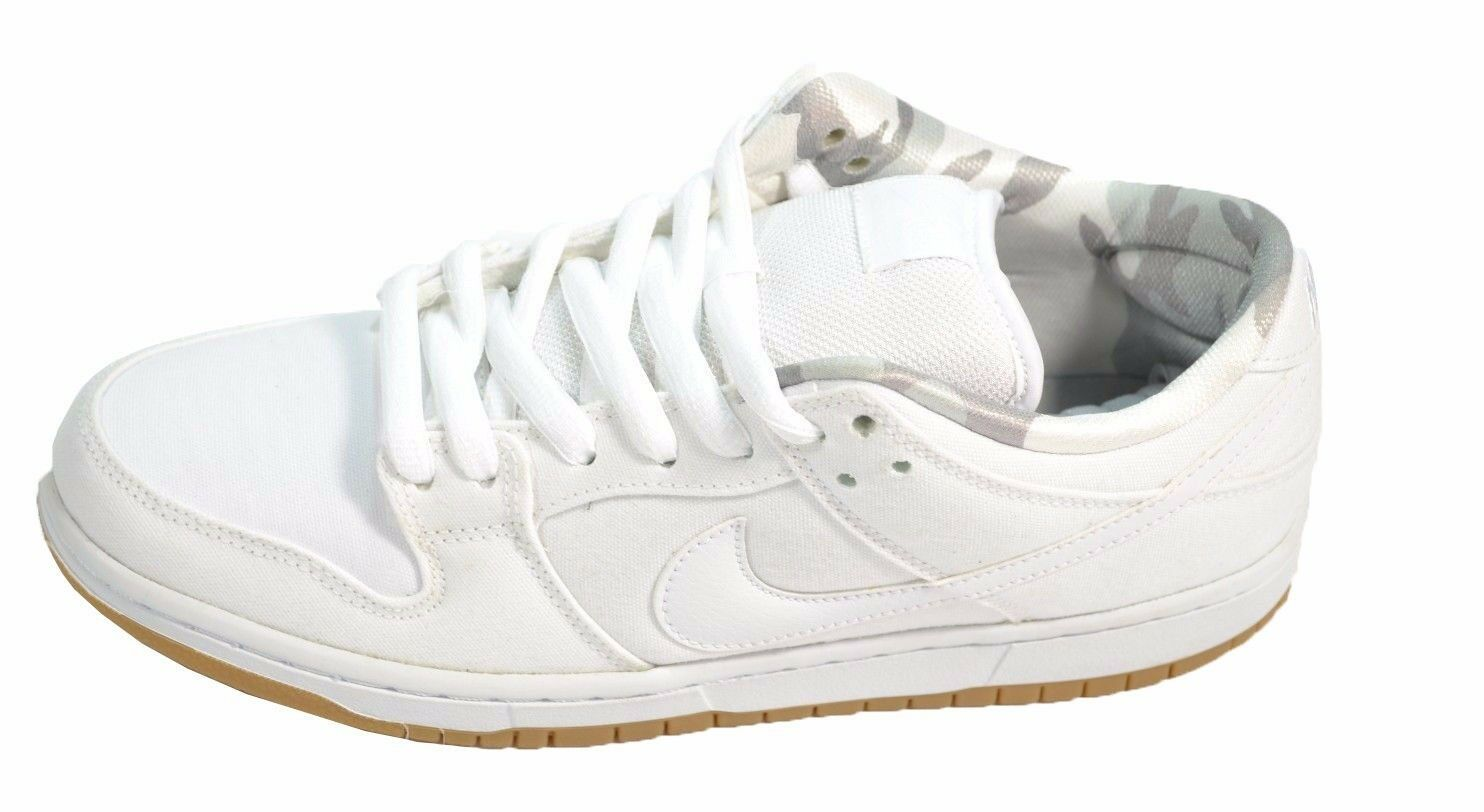 Nike DUNK LOW PRO SB White Pure Platinum Skate Discounted (536) Men's Shoes