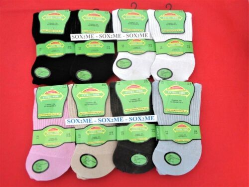 6 LADIES WOMENS NON ELASTIC SOCKS EXTRA WIDE DIABETIC SOFT TOP GENTLE GRIP 4-8