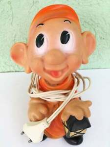 VINTAGE-DOPEY-Silly-Snow-White-and-the-Seven-Dwarfs-RUBBER-TOY-DOLL-Disney-LAMP