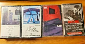 Lot 4 BILLY JOEL CASSETTE TAPES 80's Greatest Hits Glass Houses Storm Front