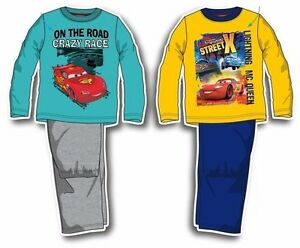 Cars-Schlafanzug-98-104-116-128-Junge-Pyjama-lang-Disney-Lightning-McQueen-Auto