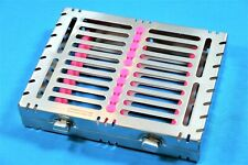 1 German Dental Autoclave Sterilization Cassette Box Tray For 10 Instrument Pink