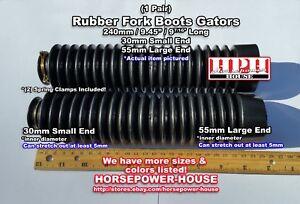30mm Black Rubber Fork Boots Gators Gaiters 84-02 Honda XR200 XR200R Dirtbike +