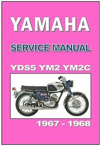 yamaha workshop manual yds5 ym2 ym2c 1967 1968 maintenance service rh ebay com 1960s Yamaha Motorcycles Vintage Yamaha Scooter