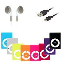 Mp3 Player Mini Clip Musik Aluminium Metall Micro SD bis 16GB + Zubehörpaket