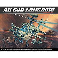 1/48 AH-64D Apache Longbow Academy Plastic Model Hobby Model Kits Military 12268