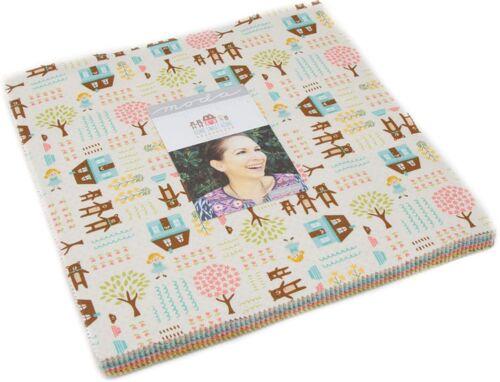 "Home Sweet Home Moda Layer Cake 42 100/% Cotton 10/"" Precut Quilt Squares"