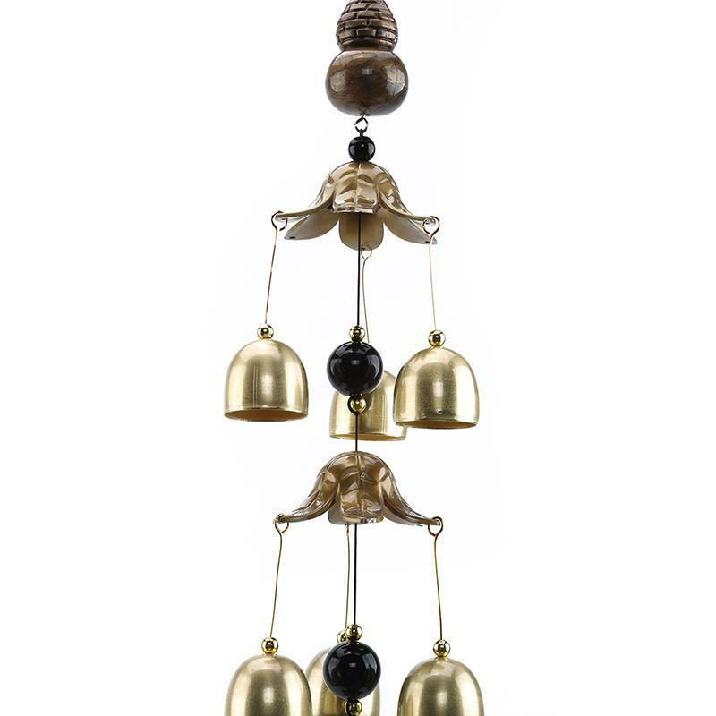 Hanging Bell Chinese Oriental Coin Feng Shui Wind Chimes Lucky Wall Hanging IT