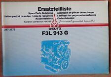 Deutz F 3 L 913 G Motor Ersatzteilliste