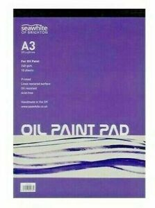 A3 Oil Painting Pad 10 sheets of 240gsm specialist oil painting paper NEW