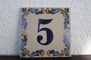 Hausnummer Keramik Hausnummernschild Hausnummer Spanische Fliesen - Spanische fliesen kaufen