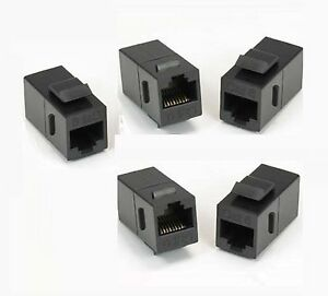 5x rj45 cat 6 keystone network cable connector adapter. Black Bedroom Furniture Sets. Home Design Ideas