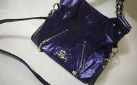 Kathy Van Zeeland Metallic Purple Shoulder Bag Handbag Tote Purse