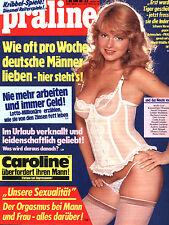 Kult-Illustrierte PRALINE  Nr. 23 von 1986, Alles rund um das Thema Nr. 1 uvm.