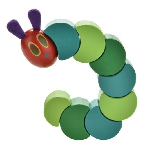 Twist The Very Hungry Caterpillar Toy Wooden Blocks for Baby Fingers Flexible