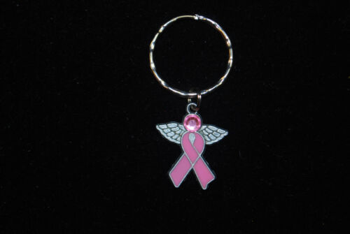 Breast Cancer Awareness Key Rings Handmade Assorted Styles S5337