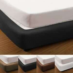 Elastic Fitted Box Spring Cover Valance for Ensemble Bed