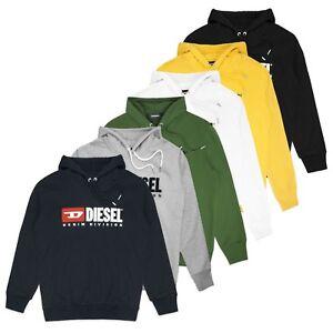 Diesel S-division Oversized Hooded Sweat Diesel Logo Hoodie Black/white/grey Starker Widerstand Gegen Hitze Und Starkes Tragen