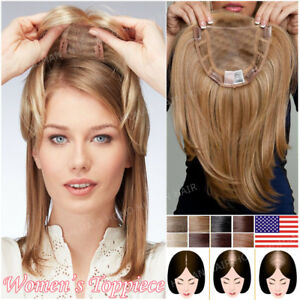 Big Sale 100% Remy Human Hair Piece Women Topper Top Pieces Wig ... fc7febeab4