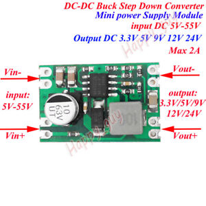 Micro DC-DC Step Down Converter 3.3V 5V 9V 12V Buck Regulator Car Power Supply