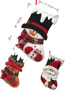 NUOVO-regalo-di-Natale-fatto-a-mano-BABBO-PUPAZZO-NEVE-RENNA-UK
