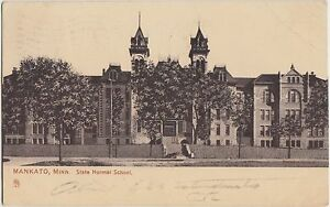 Minnesota-Mn-Postcard-1907-MANKATO-State-Normal-School