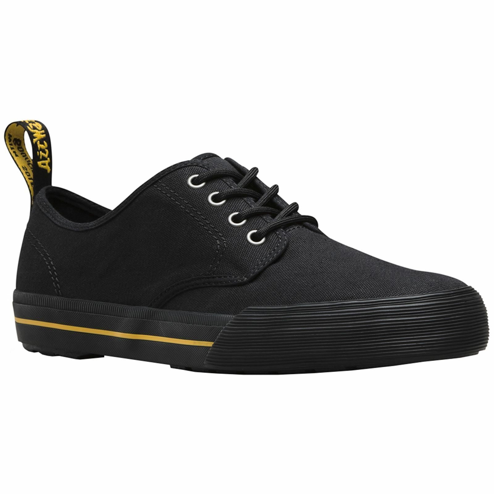 Dr.Martens Pressler 4-Eyelet Black Women Canvas Casual Low-top Sneakers Trainers
